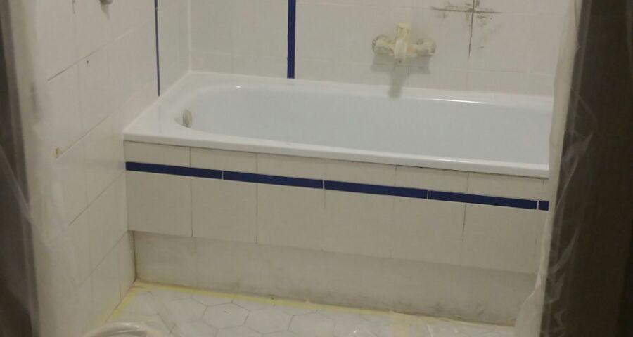 Esmaltado de bañera y azulejos de cuarto de baño